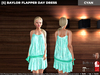 [S] Baylor Flapper Day Dress Cyan