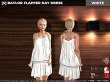 [S] Baylor Flapper Day Dress White