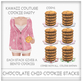 [: Kawaii Couture :] Cookie Party Chocolate Chip Cookie Stack Plate