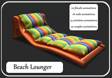 Beach Lounger-Orange