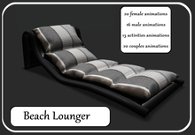 Beach Lounger-Black