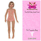 {~LMI~} Floral And Paisley Swimsuit Coral {TW} (Unpacker)