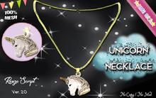 * {.:Little Stars.:} * Unicorn MESH Necklace