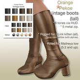 Orange*Pekoe - Vintage boots (tall) - Neutrals