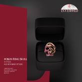 +INVERTED+ Poison Ring Skull -Pink-