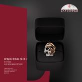 +INVERTED+ Poison Ring Skull -Bone-