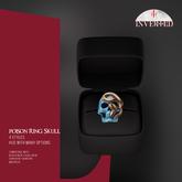 +INVERTED+ Poison Ring Skull -Blue-