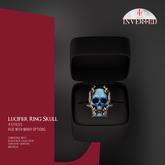 +INVERTED+ Lucifer Ring Skull -Blue-