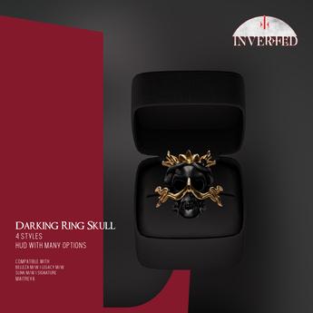 +INVERTED+ Darking Ring Skull -DELUXE-