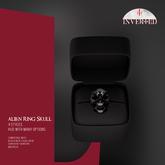 +INVERTED+ Alien Ring Skull -Black-