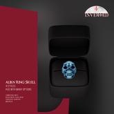 +INVERTED+ Alien Ring Skull -Blue-