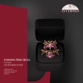 +INVERTED+ Darking Ring Skull -Pink-