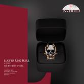 +INVERTED+ Lucifer Ring Skull -Bone-