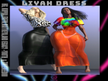 V/ Liyah Dress (W/Blk)