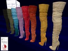 Silk/Velvet Thigh High Boots: Belleza, Maitreya, Slink fatpack