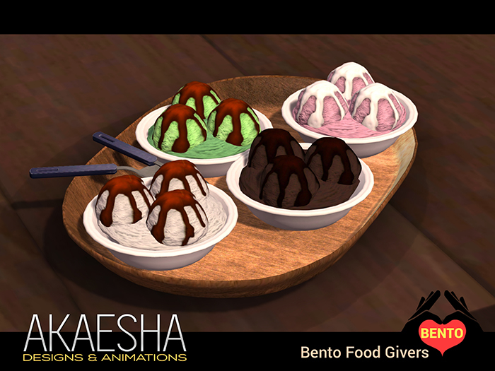 [Akaesha Catering] Ice Cream Bowl Bento Food Giver