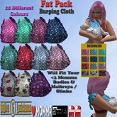 [*G&L*] BURP CLOTH FATPACK, MESH FOR MOMS  (LOVE MOMMA)