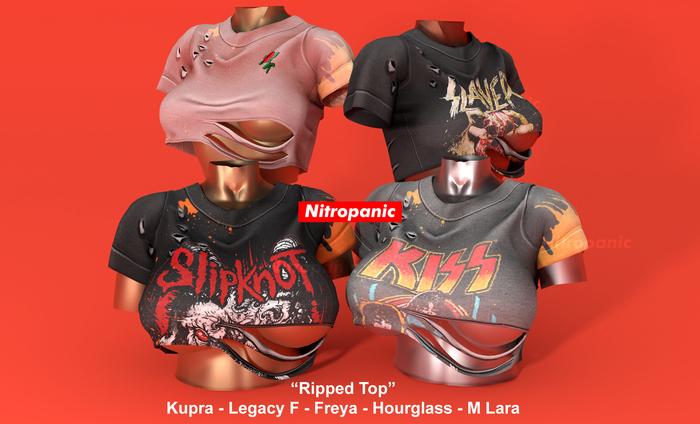 Nitropanic_Ripped Top