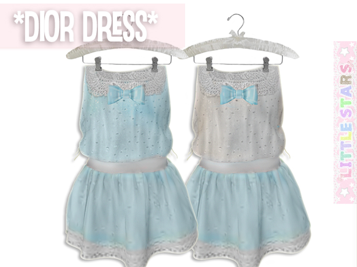 * {.:Little Stars.:} * Dior Dress - Blue {add}