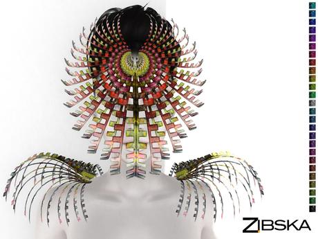 Zibska ~ Saule Color Change Mask in 2 versions and shoulders