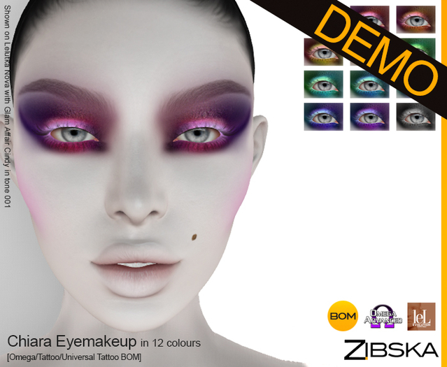 Zibska ~ Chiara Eyemakeup Demo [Omega applier, tattoo & universal tattoo BOM]