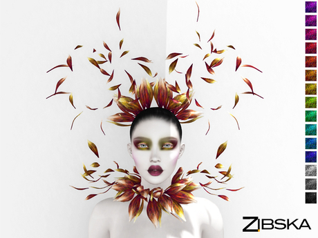Zibska ~ Chiara Color change headpiece, collar and orbits