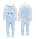 * {.:Little Stars.:} * Teddy Footie PJ - Blue (non-fitted) TD Baby & Bebe