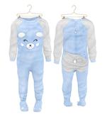 * {.:Little Stars.:} * Teddy Footie PJ - Blue {add}