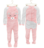 * {.:Little Stars.:} * Teddy Footie PJ - Blush (non-fitted) TD Baby & Bebe
