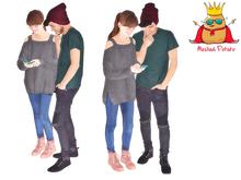 Meshed Potato - Teen Couple Mesh Persons - Full Perm Mesh
