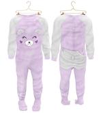 * {.:Little Stars.:} * Teddy Footie PJ - Purple (non-fitted) TD Baby & Bebe