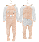 * {.:Little Stars.:} * Teddy Footie PJ - Peach (non-fitted) TD Baby & Bebe