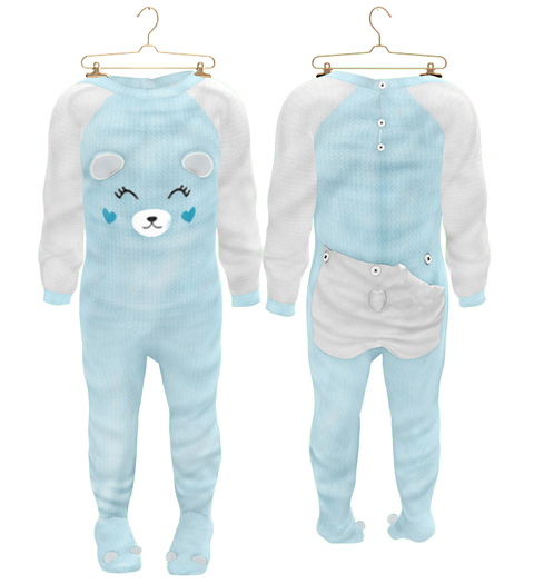 * {.:Little Stars.:} * Teddy Footie PJ - Teal (non-fitted) TD Baby & Bebe