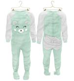 * {.:Little Stars.:} * Teddy Footie PJ - Mint (non-fitted) TD Baby & Bebe