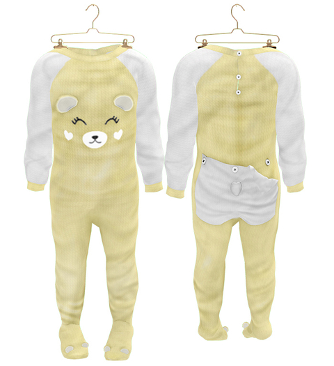 * {.:Little Stars.:} * Teddy Footie PJ - Yellow (non-fitted) TD Baby & Bebe