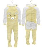 * {.:Little Stars.:} * Teddy Footie PJ - Yellow {add}