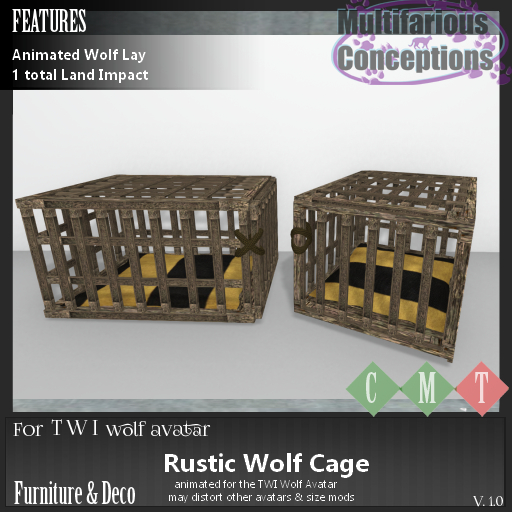 [MC] Rustic Wolf Cage [add me]