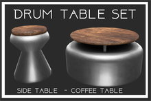 Drum Table Set-Silver