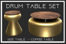 Drum Table Set-Gold