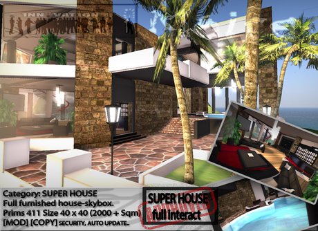 : MAIRE:   super house Skybox . Full interact & furnished home