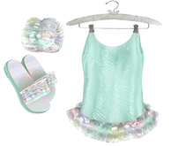 * {.:Little Stars.:} * Iridescent Swimsuit - Mint {non-fitted TD B&K}