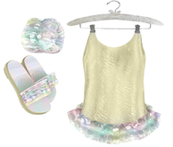 * {.:Little Stars.:} * Iridescent Swimsuit - Yellow {non-fitted TD B&K}