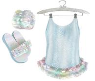 * {.:Little Stars.:} * Iridescent Swimsuit - Blue {non-fitted TD B&K}