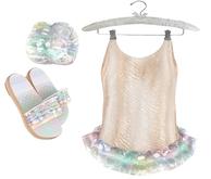 * {.:Little Stars.:} * Iridescent Swimsuit - Orange {non-fitted TD B&K}
