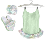 * {.:Little Stars.:} * Iridescent Swimsuit - Green {non-fitted TD B&K}
