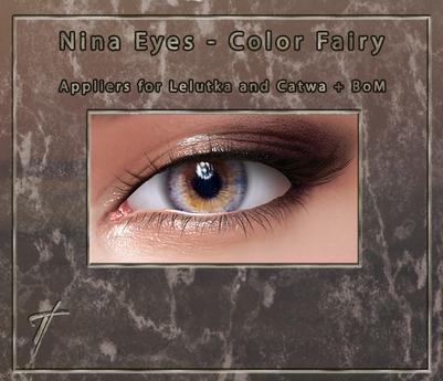 Tville - Nina Eyes *Fairy* For Lelutka EVO / Catwa / BoM