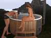 Dutchie Mesh Hot Tub PG: Wood-fired Spa in 3 colors, 30 couple animations, Bento hands, AVsitter experience