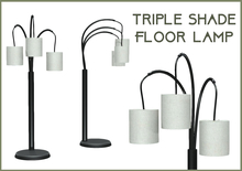 Triple Shade Floor Lamp - Black