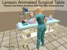 Surgical Table With Menu Selected Medical Animations!