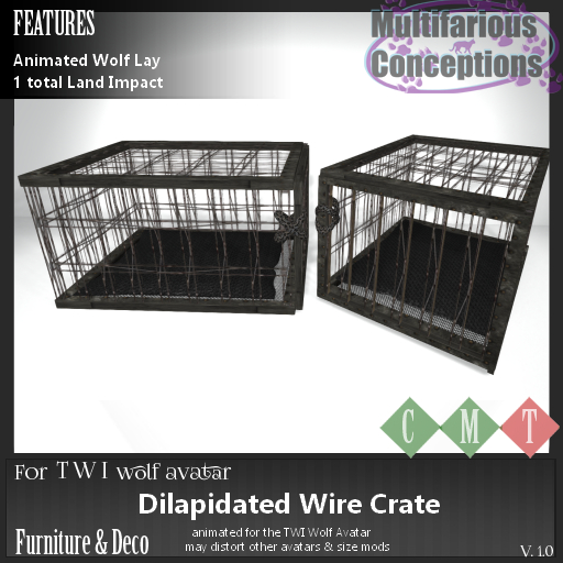 [MC] dilapidated wire crate [add me]